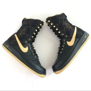 Vintage Nike Air Force 1 High Top Gold Quilted